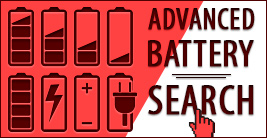 Advanced battery search - find the batterie you need.